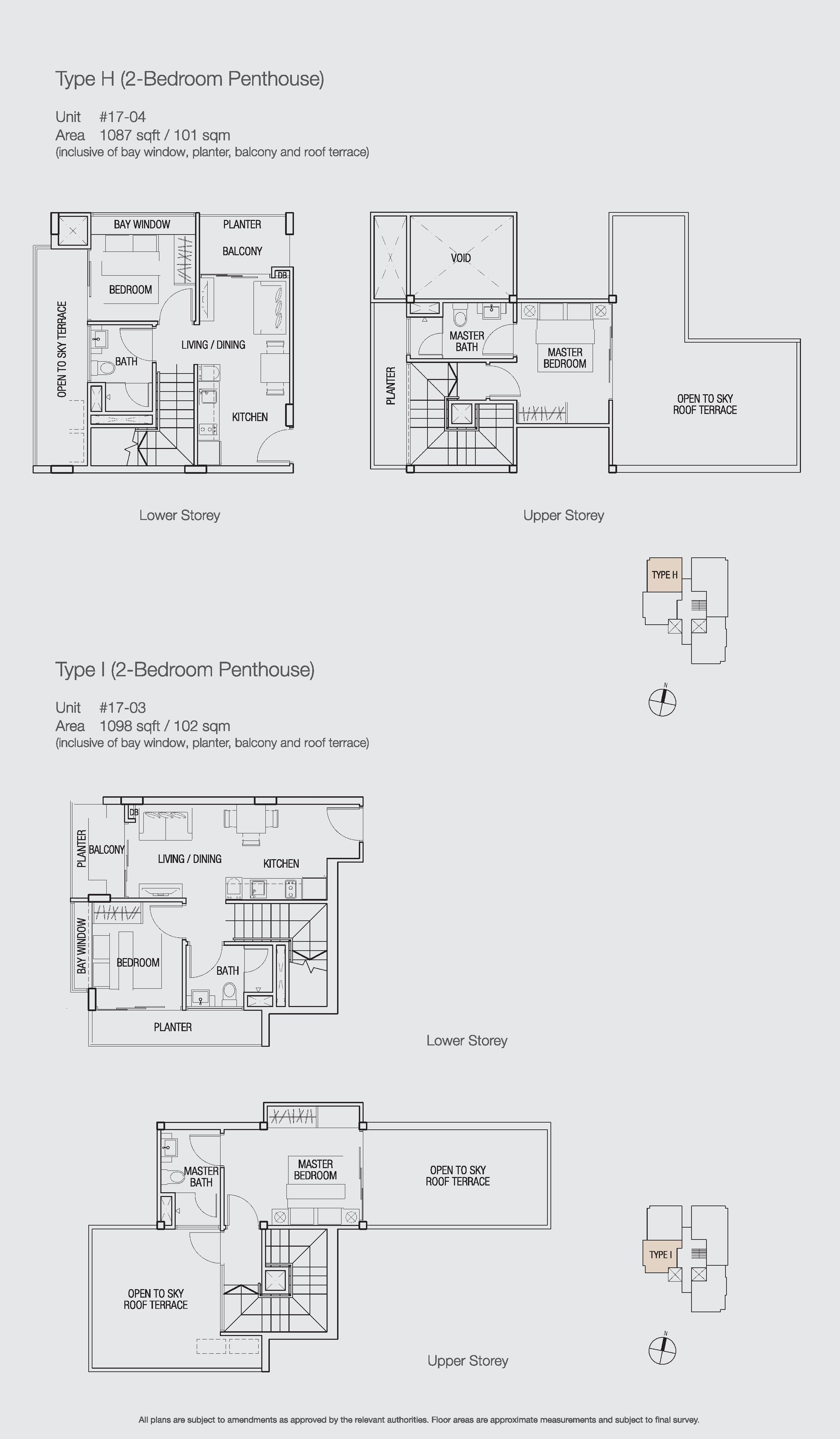 Penthouse 2 bed bella casita for 2 bedroom casita plans